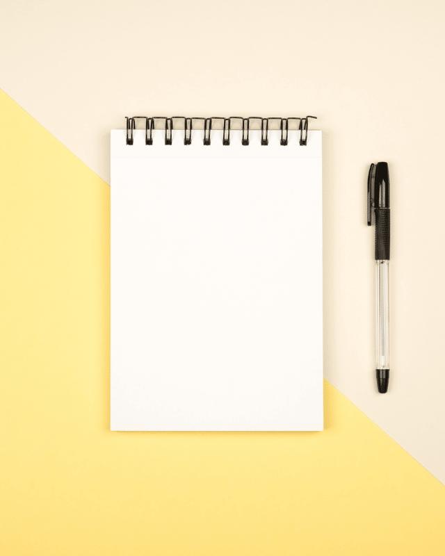 Notepads header